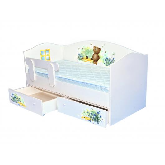 Кроватка домик Мишка с медом 80х160