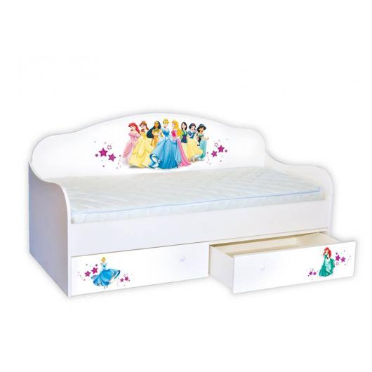 Кроватка диванчик Принцессы 80х190 ДСП