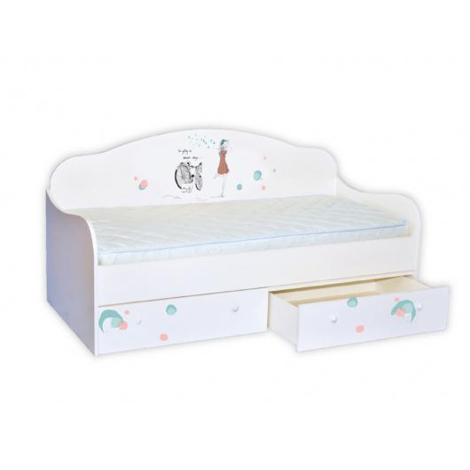 Кроватка диванчик Гламур 80х170 ДСП