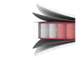 Ортопедический матрас MatroLuxe Four Red Carmin Кармин Pocket Spring 70х190 - изображение 3 - интернет-магазин tricolor.com.ua