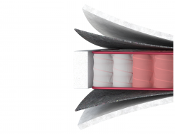 Ортопедический матрас MatroLuxe Four Red Carmin Кармин Pocket Spring 180х190 - изображение 2 - интернет-магазин tricolor.com.ua