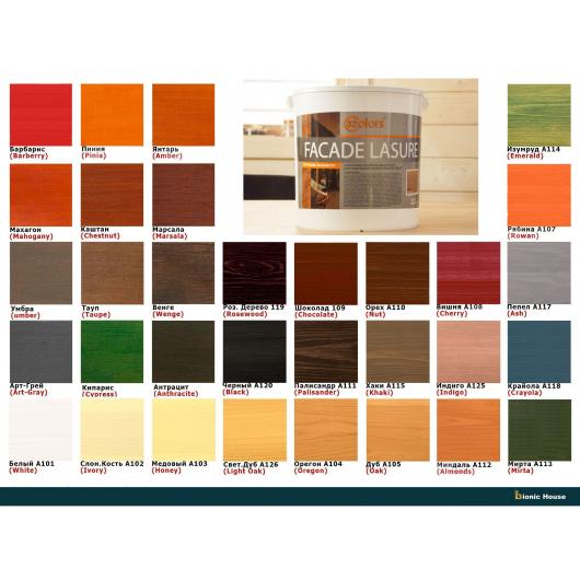 Лазурь для дерева фасадная 32 Color Bionic House антисептик Изумруд - изображение 4 - интернет-магазин tricolor.com.ua