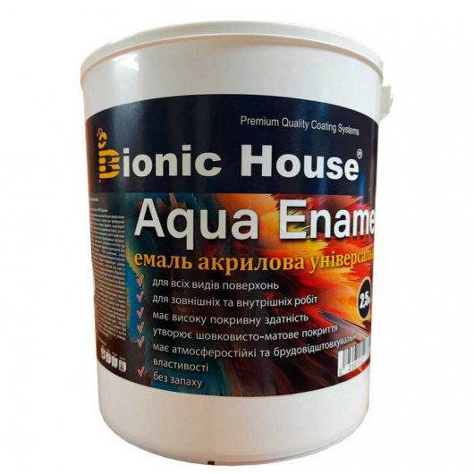 Эмаль для дерева Aqua Enamel Bionic House акриловая Арктик - интернет-магазин tricolor.com.ua