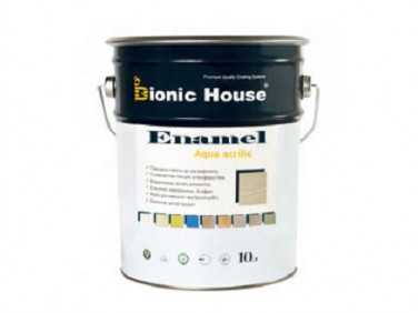 Эмаль для дерева Aqua Enamel Bionic House акриловая Мокко
