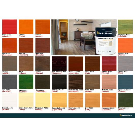Краска-воск для дерева Wood Wax Pro Bionic House алкидно-акриловая Баклажан - изображение 5 - интернет-магазин tricolor.com.ua