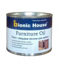 Масло для мебели Furniture oil Bionic House с твердым воском профессиональное Прозрачное