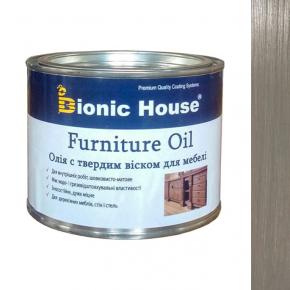 Масло для мебели Furniture oil Bionic House с твердым воском профессиональное Грей