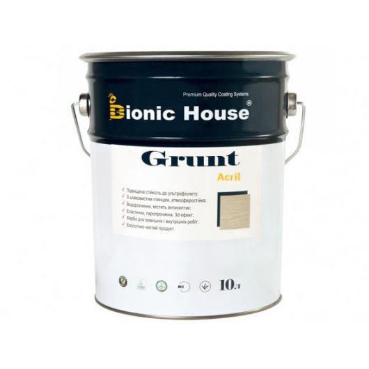 Грунт-лак акриловый Bionic House полуматовый Белый - интернет-магазин tricolor.com.ua