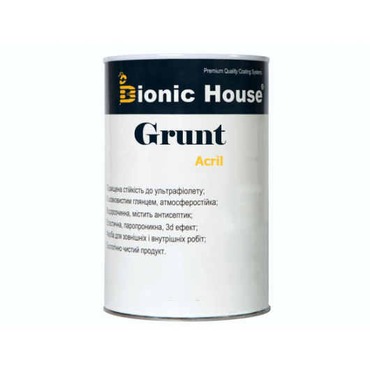 Грунт-лак акриловый Bionic House полуматовый Белый - изображение 2 - интернет-магазин tricolor.com.ua