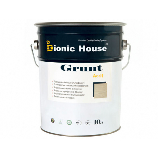 Грунт-лак акриловый Bionic House полуматовый Пепел - интернет-магазин tricolor.com.ua