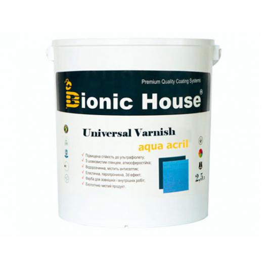 Лак универсальный акриловый Bionic House полуматовый Белый - интернет-магазин tricolor.com.ua