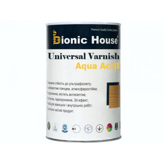 Лак универсальный акриловый Bionic House полуматовый Белый - изображение 2 - интернет-магазин tricolor.com.ua