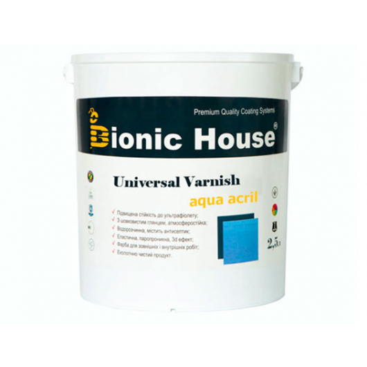 Лак универсальный акриловый Bionic House полуматовый Слоновая кость - интернет-магазин tricolor.com.ua