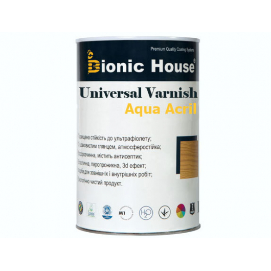 Лак универсальный акриловый Bionic House полуматовый Медовый - изображение 2 - интернет-магазин tricolor.com.ua