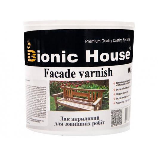 Лак водный для наружных работ Bionic House полуматовый Черный - интернет-магазин tricolor.com.ua