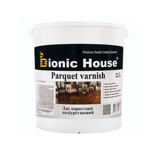 Лак паркетный ультрастойкий Joncryl Bionic House полуматовый Медовый - изображение 2 - интернет-магазин tricolor.com.ua
