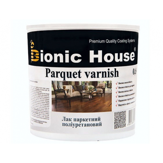 Лак паркетный ультрастойкий Joncryl Bionic House полуматовый Вишня - интернет-магазин tricolor.com.ua