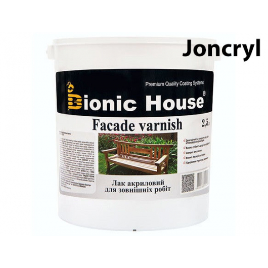 Лак водный для наружных работ Joncryl Bionic House полуматовый Пепел - интернет-магазин tricolor.com.ua