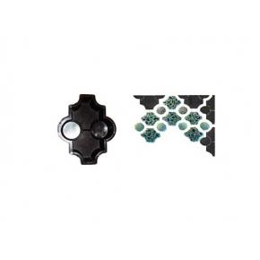 Форма для тротуарной плитки «Клевер фигурный шагрень» 26,7x21,8x6 AX
