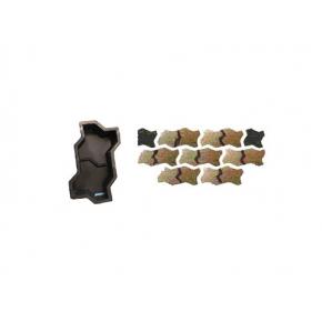 Форма для тротуарной плитки «Волна узорная» 23,7x10,3x6 AX