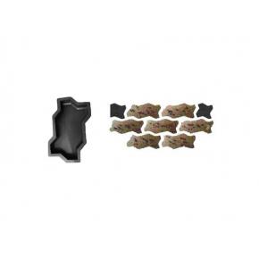 Форма для тротуарной плитки «Волна шагрень» 23,7x10,3x6 AX