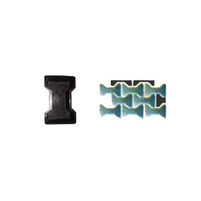 Форма для тротуарной плитки «Двойное Т шагрень» 2,5x8,8x6 AX