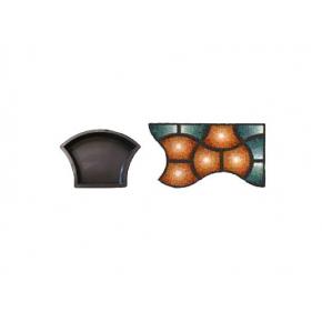 Форма для тротуарной плитки «Ракушка гладкая» 24x17x4,5 AX