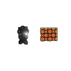 Форма для тротуарной плитки «Шахерезада» 25x12,5x4,5 AX