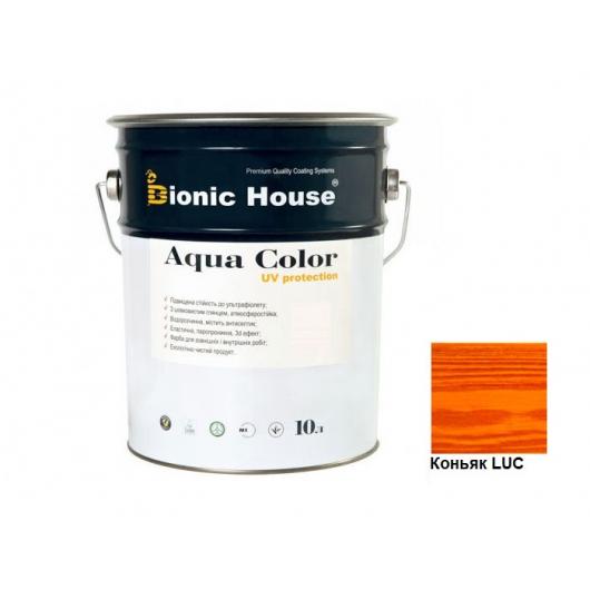 Акриловая лазурь Aqua color – UV protect Bionic House Коньяк LUC - интернет-магазин tricolor.com.ua