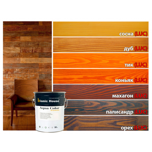 Акриловая лазурь Aqua color – UV protect Bionic House Коньяк LUC - изображение 4 - интернет-магазин tricolor.com.ua