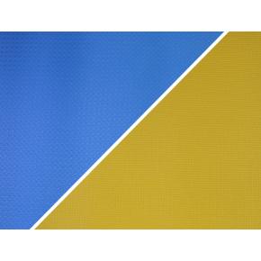 Коврик-каремат Izolon Tourist 12 180х60 желто-бело-синий