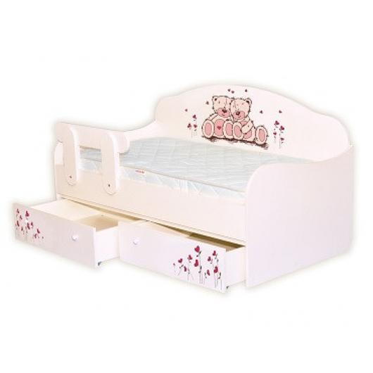 Кроватка диванчик Мишки 90х190 ДСП