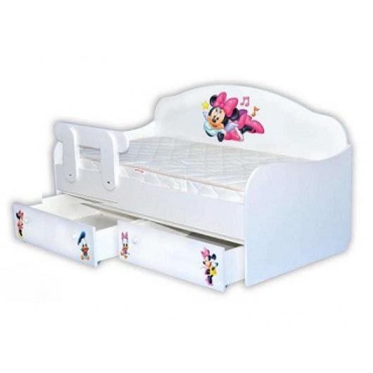 Кроватка диванчик Минни-Маус 90х190 ДСП
