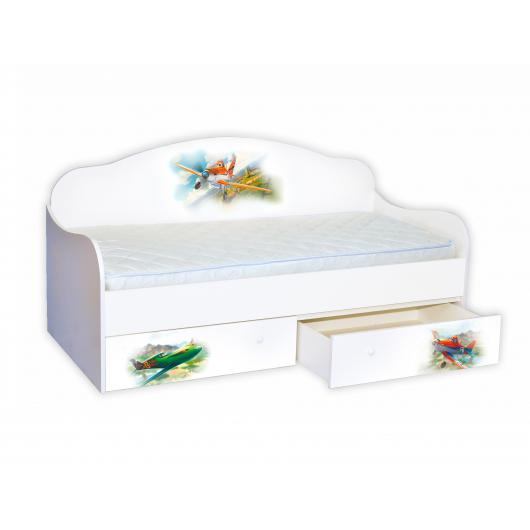 Кроватка диванчик Самолет 90х190 ДСП