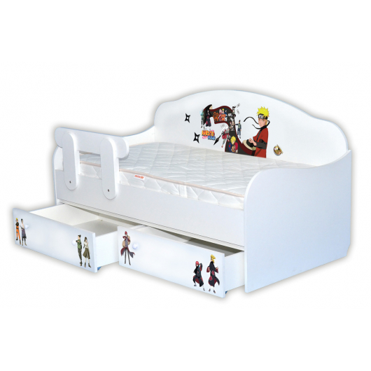 Кроватка диванчик Наруто 90х190 ДСП