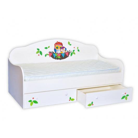 Кроватка диванчик Совушки в гнезде 90х190 ДСП