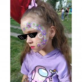 Аквагрим гипоаллергенный Tricolor - 10 малиновый - изображение 8 - интернет-магазин tricolor.com.ua