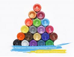 Аквагрим гипоаллергенный Tricolor - 10 малиновый - изображение 3 - интернет-магазин tricolor.com.ua