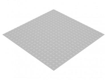 Акустическая панель Пирамида 15 мм 1х1 м средняя светло-серая