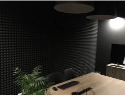 Акустическая панель Пирамида 15 мм 50х25 см средняя черный графит - изображение 2 - интернет-магазин tricolor.com.ua