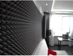 Акустическая панель Пирамида 50 мм 50х25 см средняя черный графит - изображение 2 - интернет-магазин tricolor.com.ua