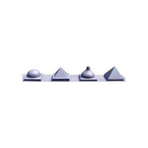 Форма шапка для столба №4 Пирамида 16х16 АБС MF - изображение 2 - интернет-магазин tricolor.com.ua
