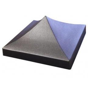 Форма шапка для столба №6 Четырехскатная 34х34х14 см АБС MF