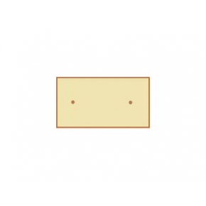 Форма фасадная №11 Камень гладкий 50х25 см АБС MF