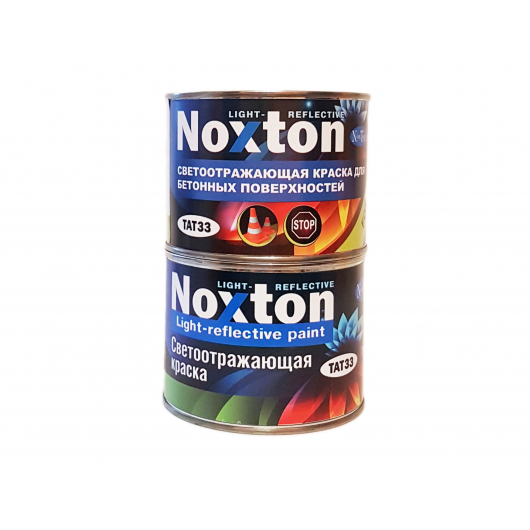 Светоотражающая краска для бетонных поверхностей NoxTon красная - интернет-магазин tricolor.com.ua
