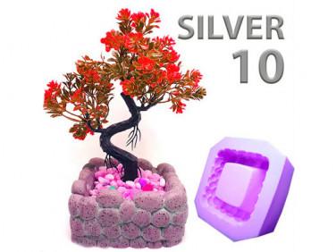 Силикон для форм супержидкий и мягкий Silver10 высокоэластичный