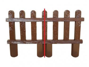 Форма оградки №12а АБС MF 100х63х4 см