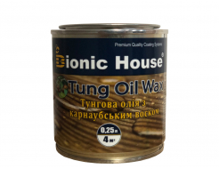 Масло тунговое с карнаубским воском Hard Tung oil Bionic House - изображение 2 - интернет-магазин tricolor.com.ua