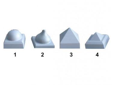 Форма колпака для столба №1 14х14 АБС MF