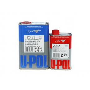 Лак акриловый повышенной прочности U-Pol 2:1 2081 SR 5л + отвердитель 2032 стандартный 2,5л (комплект)